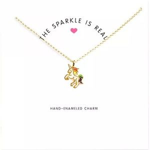 Jewelry - 4 for $25 unicorn pendant on card